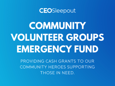 PLEASE HELP GROW THE COMMUNITY VOLUNTEER GROUPS EMERGENCY FUND